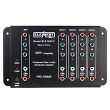 Element Hz™ Professional Grade HD Component Video/Stereo Audio Distribution Amp ELE1X4CV