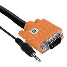 6M VGA Cable with 3.5MM ELE2006M
