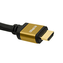 Elementhz .5 meter (1.64ft) HDMI Cable, Round Jacket, Yellow End