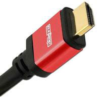 Elementhz 2 meter (6.56ft) HDMI Cable, Round Jacket, Red End ELE5002M