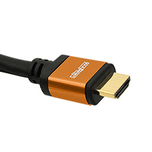 Elementhz 6 meter (19.7ft) HDMI Cable, Round Jacket, Orange End ELE5006M