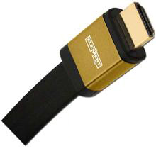 Elementhz .5 meter (1.64ft) HDMI Cable, Flat Jacket, Yellow End ELE6000M