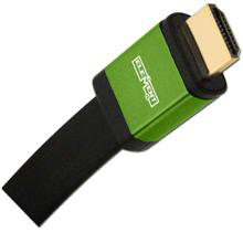 Elementhz 4 meter (13.12ft) HDMI Cable, Flat Jacket, Green End