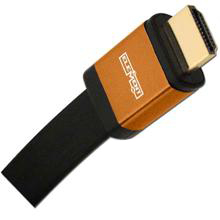 Elementhz 6 meter (19.7ft) HDMI Cable, Flat Jacket, Orange End ELE6006M