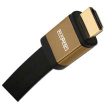 Elementhz 20 meter (65.6ft) HDMI Cable, Flat Jacket, Brown End ELE6020M