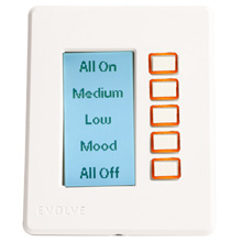 Evolve LCD-1 Single Gang Controller (Almond) EVO300A