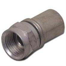 Thomas & Betts RG-6 connector silver alloy, qty100 F56CH