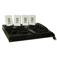Aton HD Audio/Video Router Kit with Router, 4 Wall plates, 4 Receivers, 4 Emitters, 1 Remote ATN9022