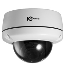 IC Realtime® EL-470 720TVL Vandal-proof Weatherproof DNR Day/Night IR Dome Camera, 2.8mm-12mm Varifocal Lens ICR1007