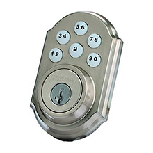 Kwikset Smartcode Deadbolt with Z-Wave Satin Nickel KWIK1000