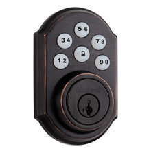 Kwikset Smartcode Deadbolt with Z-Wave Venetian Bronze KWIK1001