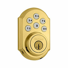 Kwikset SmartCode™ Electronic Deadbolt Featuring Z-Wave Technology (Polished Brass) KWIK1002