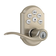 Kwikset SmartCode Lever with Z-Wave Satin Nickel KWIK1004