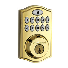 Kwikset® SmartCode™ 914 Touchpad Electronic Deadbolt with Z-Wave Technology (Polished Brass) KWIK1006