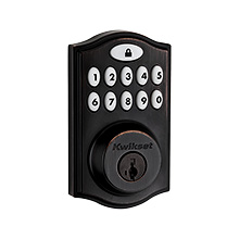 Kwikset® SmartCode™ 914 Touchpad Electronic Deadbolt with Z-Wave Technology (Venetian Bronze) KWIK1008