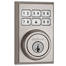 Kwikset Contemporary Smartcode Deadbolt with Z-Wave Satin Nickel KWIK2000