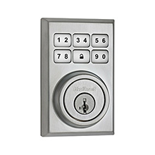 Kwikset Contemporary Smartcode Deadbolt with Z-Wave Satin Chrome KWIK2001