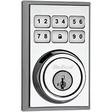 Kwikset Contemporary Smartcode Deadbolt with Z-Wave Polished Chrome KWIK2002