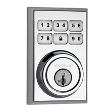 Kwikset SmartCode™ Contemporary Deadbolt Featuring ZigBee Technology (Polished Chrome) KWIK2002ZB