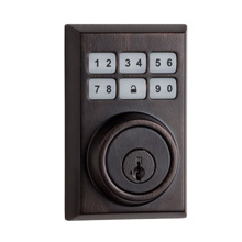 Kwikset Contemporary Smartcode Deadbolt with Z-Wave Venetian Bronze KWIK2003