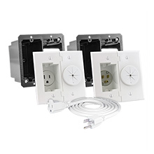 Midlite A2GESR-W Power+Port Kit with 6ft cord, white