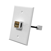 Midlite™ A360HDMI-WH Custom 360° Right Angle HDMI Adaptor and Wall Plate Kit MID2025W