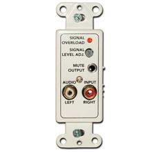 M and S Model DMC-10AWP Wallplate, mono audio input, for DMC-10H MNS1207