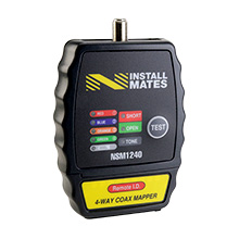 NstallMates™ 4-way coax mapper with Color Coded Indicators NSM1240