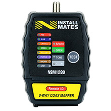NstallMates™ 8-way coax mapper with Color Coded Indicators NSM1280
