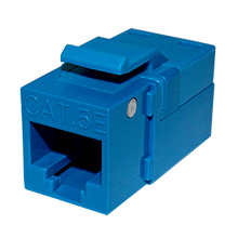 Platinum Tools 705BL-1 EZ SNAPJACK for  Cat5e Keystone, Blue, each PLA1016
