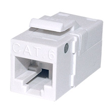 Platinum Tools 706WH-1EZ SNAPJACK for  Cat6 Keystone, White, each