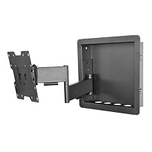 "Royal Mounts™ In-Wall Articulating Mount for Small 23""-40"" Displays (Black), Includes 6ft HDMI Cable Free! ROY3512B"