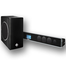 "Saga Elite™ Amplified 60 Watt Soundbar System with 8"" Wireless Subwoofer, for TV's 46"" to 52"" SAG0218"