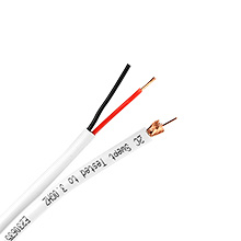 Skyline™ RG-59 Solid Copper w/ 18 Gauge Power Cable (UL), 500ft Box (White) SKL1277W