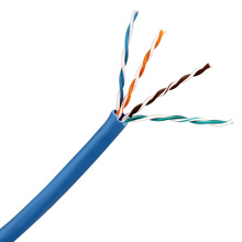 Skyline Cat6 8-Conductor 23awg wire, blue, 1000ft pull-box