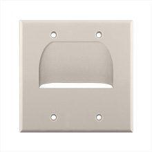 Skywalker Signature Series Inverted Dual Gang Bundled Wall Plate Almond SKY05065AD