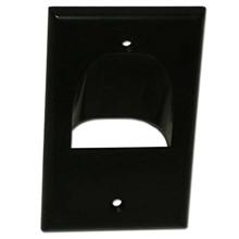 Skywalker Signature Series Inverted Single Gang Bundled Wall Plate Black SKY05065BS