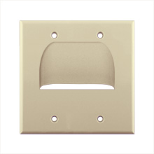 Skywalker Signature Series Inverted Dual Gang Bundled Wall Plate Ivory