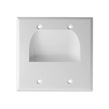 Skywalker Signature Series Inverted Dual Gang Bundled Wall Plate White
