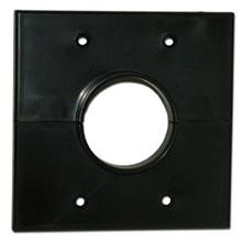 Skywalker Signature Series Split Dual Gang Wall Plate with 1.75 inch hole, black SKY05066BD