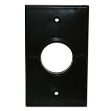 Skywalker Signature Series Split Single Gang Plate with 1.375in hole, black SKY05066BS