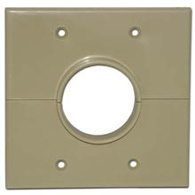 Skywalker Signature Series Split Dual Gang Wall Plate with 1.75 inch hole, ivory