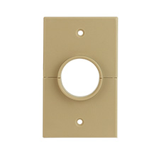 Skywalker Signature Series Split Single Gang Plate with 1.375in hole, ivory