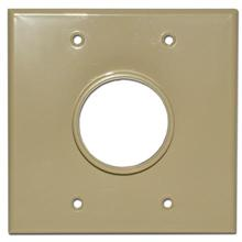Skywalker Signature Series Dual Gang Wall Plate with 1 3/4in opening, ivory SKY05078ID