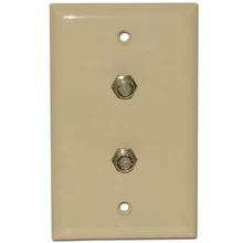 Skywalker Signature Series Wall Plate w/Dual F-81, Almond SKY05082A