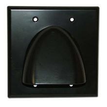 Skywalker Signature Series Double Gang Bundled Cable Wall Plate, Black