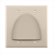 Skywalker Signature Series Double Gang Bundled Cable Wall Plate, Ivory SKY05087ID