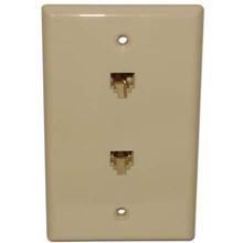 Skywalker Signature Series Flush Mount Wall Plate w/dual Phone Almond