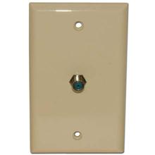 Skywalker Signature Series Wall Plate w/single 3.0ghz F-81,  Almond SKY05091A
