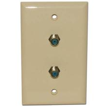 Skywalker Signature Series Wall Plate w/dual 3.0ghz F-81, Almond SKY05092A